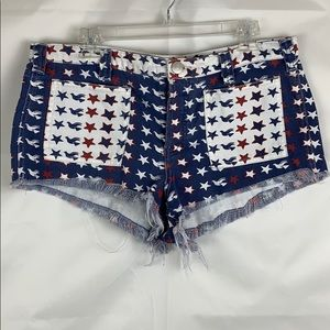 We The Free Patriotic buttonfly high rise cut offs
